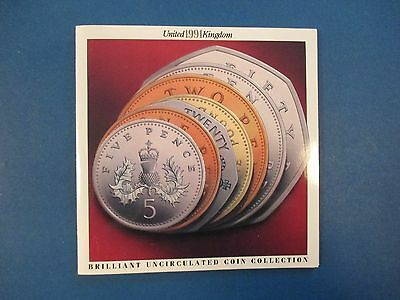 United Kingdom 1991 7 Coin Mint Set Uncirculated & Sealed Coins Great Britain