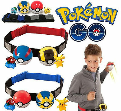 Pokemon Clip Carry Adjustable Hanging Poke Ball Belt Xmas Gift Pretend Play Game