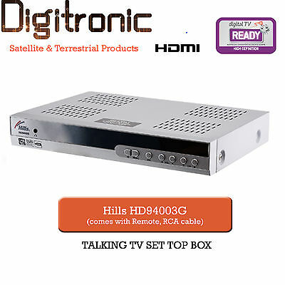Hills FTA High Definition Digital HD Set Top Box HDMI Terrestrial Talking TV RF