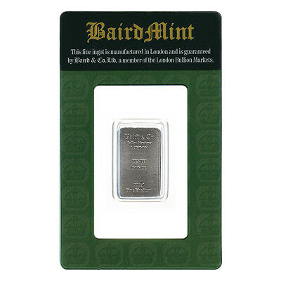 1/10th oz Rhodium Bar Baird Mint One Tenth Ounce .9999 Fine