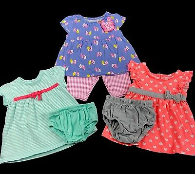 Infant Baby Girl Clothes Size 0-3 Months Spring Summer Mixed Lot Set