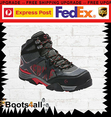 Wolverine Work Boots Safety Steel Toe Cap Black Thunderhead jogger W81019