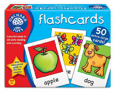 Kids Orchard Toys Children Large Double-Sided Educational Flashcards NEW