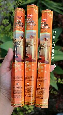 ARCHANGEL SAN GABRIEL INCENSE STICKS~Hem Hexagonal Pack 20 Sticks Wicca Pagan