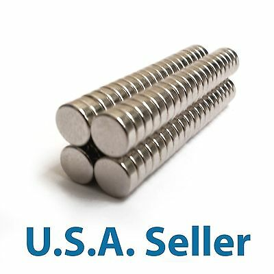 25 50 100 6x2 mm N42 Strong Rare Earth Neodymium Magnets Permanent Disc Magnet