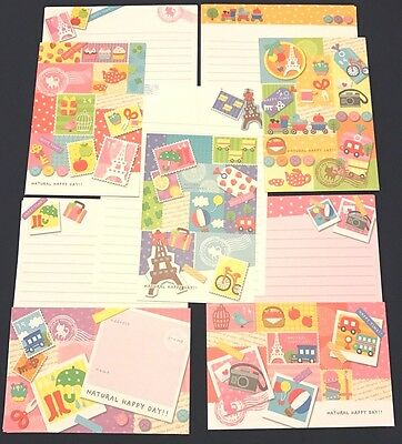 Natural Happy Day!! Letter Set 5 Envelopes & 10 Writing Paper