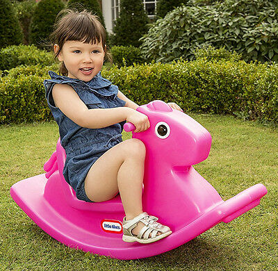 Rocking Horse Toddler Baby Child Kids Ride On Toys Animal Rocker Plastic Chair
