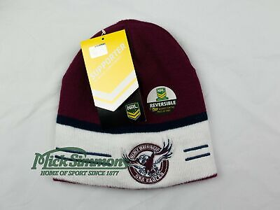 NEW Manly Warringah Sea Eagles NRL Adult's Reversible Beanie