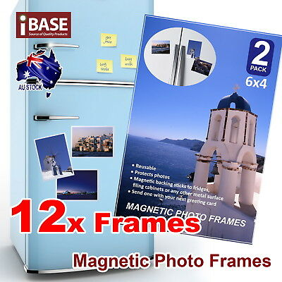 12x Frames 6x4 Magnetic Photo Picture Notes Fridge Clear Pocket Idea Gift Decor