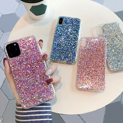 Luxury Bling Sparkle Glitter Sequin Soft Case Cover For iPhone XS Max 8 7 6 Plus