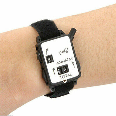 Golf Stroke Counters Score Keeper Count Watch Putt Shot With Black Wristband FR