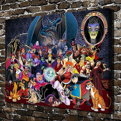 """12""""x16""""Disney villains Paintings HD Print on Canvas Home Decor Wall Art Picture"""