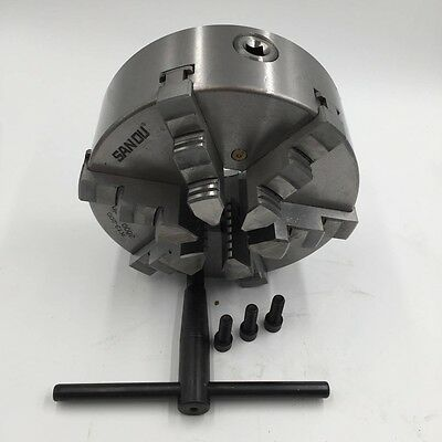 200mm 6 Jaw 8'' Lathe Chuck Self-Centering for CNC Drilling Milling Machine New