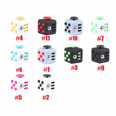 Magic Fidget Cube Adults Anxiety Stress Relief Fun Desk Toy Kids 6 Sides Gift