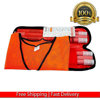30 Minute Road Flare Kit Safety Traffic Flares Highway Road Care Safe 6 Pcs New