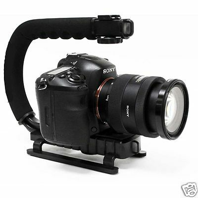 Video Handheld Stabilizer U Shape Grip Bracket for DSLR SLR DV Camcorder Camera