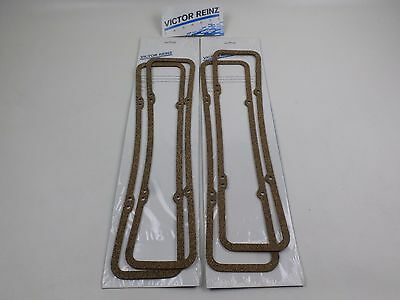 2 PAIRS! Victor Cork Valve Cover Gaskets for Chevy SBC 265 283 302 305 327 350