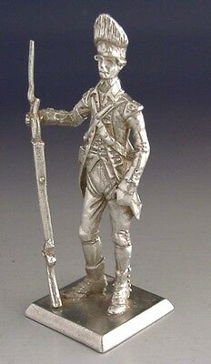 Solid Sterling Silver American Independence Era Soldier Figure 1978 Redcoat