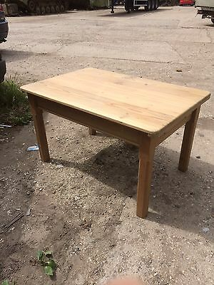 Victorian Pine Table with drawer. Coffee Table Or Good To Upcycle