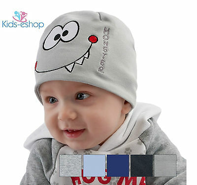 Cute Baby Boys HAT Beanie  Spring Autumn Cotton 9 Months - 3 Years MONSTER