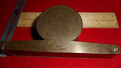 Antique ASIAN? Pocket Apothecary Brass Balance Scales OPIUM GOLD PRECIOUS GEMS??