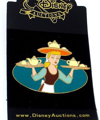 New LE Disney Auctions Pin✿Princess Cinderella Teatime Dressed Rags Teapot Cups
