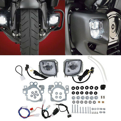 LED Rectangular Fog Light Kit For Honda Goldwing GL1800 F6B Valkyrie 2014 2015