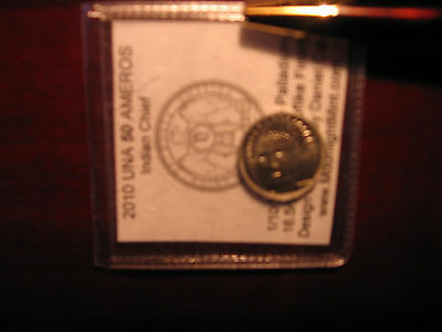 ONLY 110-Palladium 1/10 OZ .995 Daniel Carr 2010 UNA 50 Ameros(Like silver/gold)