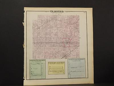 Ohio Cuyahoga County Map Olmsted Township  1874  K11#60
