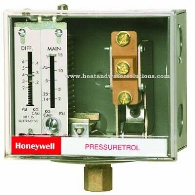 L404F1102 Honeywell Pressuretrol® Controllers, Auto recycle, 10 psi to 150 psi