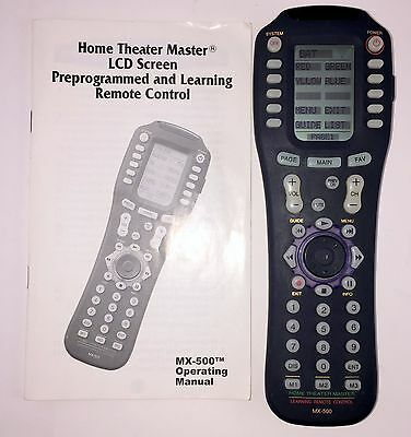 URC Home Theater Master MX-500 Universal Programmable Remote Control MX500