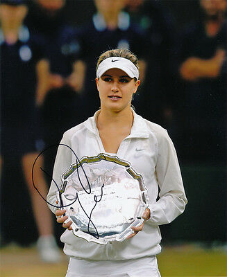 Eugenie Bouchard Signed 8X10 inches Tennis WTA 2014 Wimbledon Photo with Proof