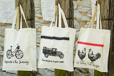 Multi-Use Tote, Grocery / Shopping Bag, Reusable, Washable Canvas Bag