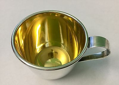 VINTAGE Sterling Silver  Baby Cup  WEB 510 with Gold washed Interior