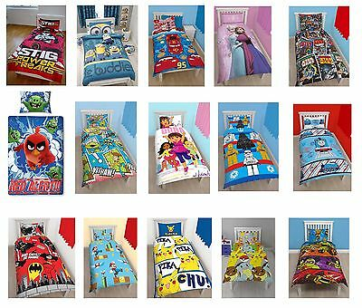 Duvet Cover Sets Characters Bed Lining Single Kids Children Disney Paw Patrol