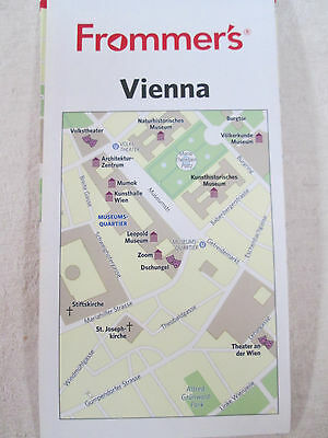 Frommer's Map of VIENNA ~ Theaters Museums Churches Parks ~ Printed in German