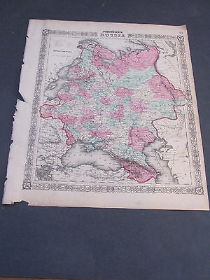 1862 Russia Johnson's and Ward Map