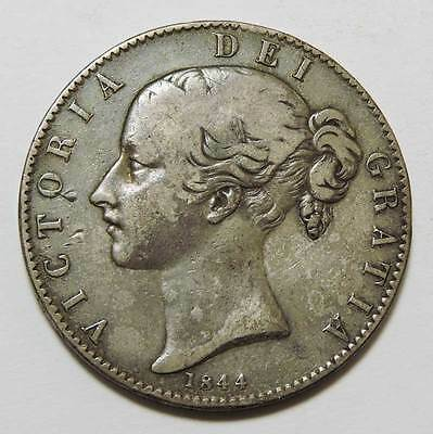 Great Britain 1844 Silver Crown. KM #741.