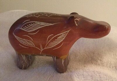 Hand Carved Stone Hippo from Kenya