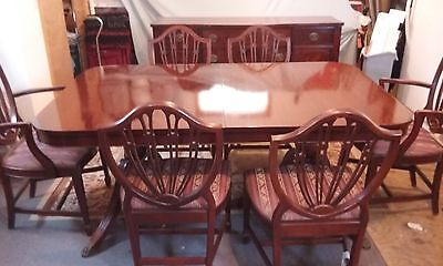 antique Duncan Phyfe dining room set
