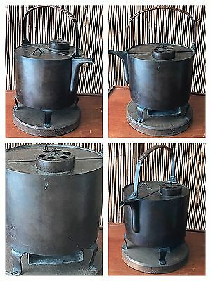 RARE ANTIQUE JAPANESE SAKI WARMER STOVE PORTABLE COPPER Kettle