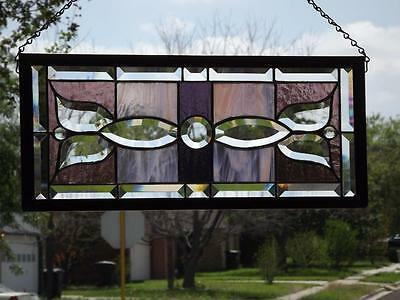 "*Spring Blossom*Beveled Stained Glass Window Panel • 20 1/8""- 9 1/8"" (51 -23 cm)"