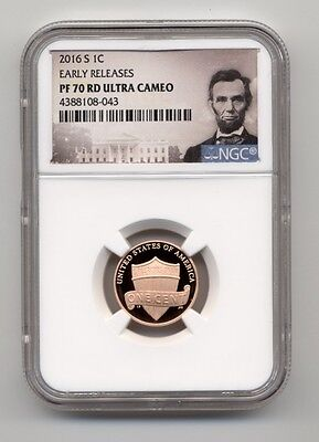2016 S 1c Lincoln Penny Cent NGC PF 70 RD Ultra Cameo Early Releases