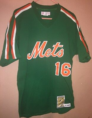 huge selection of 68cff 5dea4 DWIGHT GOODEN MITCHELL & Ness 1985 New York Mets Jersey #16 ST PATS Men's  Large