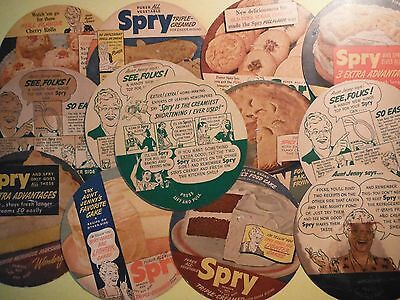 13 Collectible Spry Recipe Can Lids