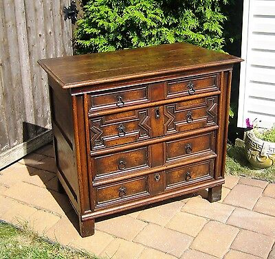 Antique Charles II Circa 1680 Chest of Drawers as appraised.17th Century.