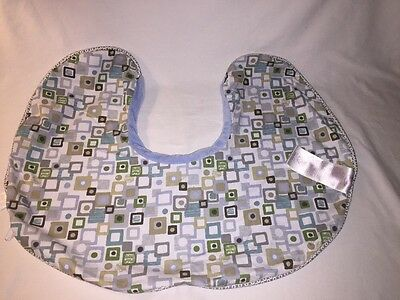 Baby Original Boppy Pillow Nursing Pillow Slip Cover Blues Browns Greens