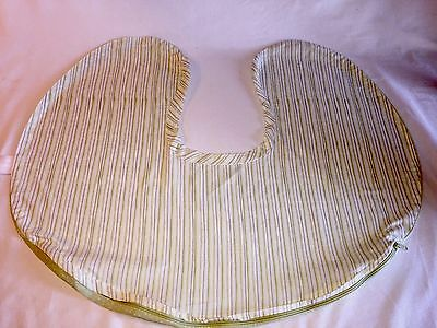 Baby Original Boppy Pillow Nursing Pillow Slip Cover Lite Green Stripes NO TAX