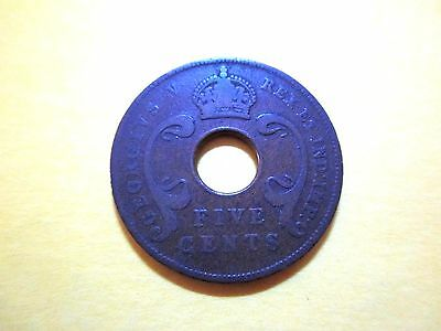 British East Africa 5 Cents 1924 Kenya Great Britain