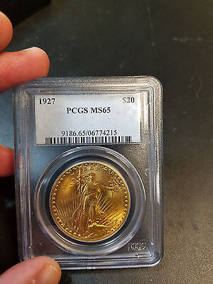 1927 Double Eagle $20 Gold St. Gaudens Gold Coin, Pcgs Ms 65 Gorgeous Luster